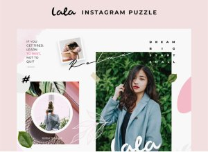 Free Lala Puzzle Instagram Post Templates