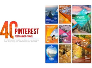 Free Pinterest Travel Banners