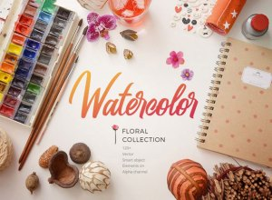 Free Watercolor Floral Patterns Collection