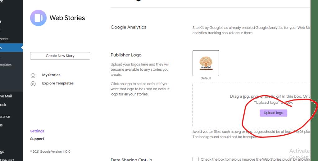 google web story for blog