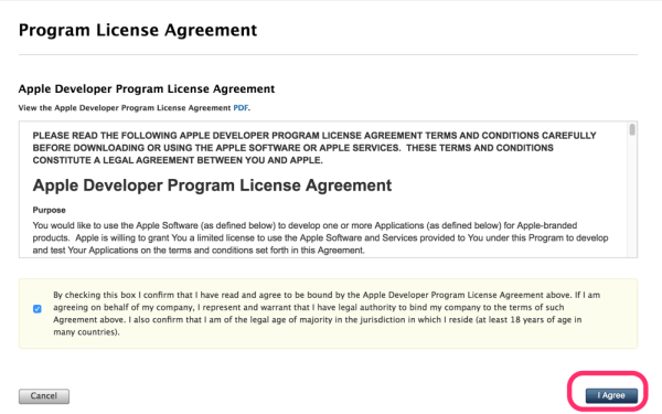 Apple Developer Program Renewal License Agreement