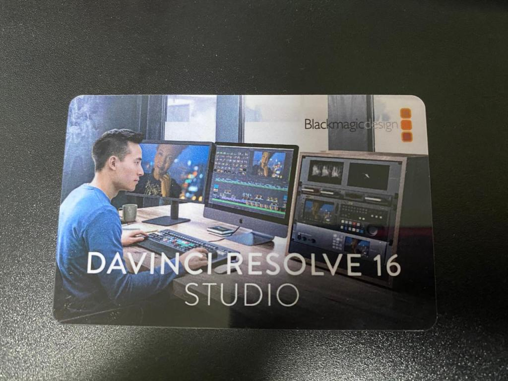 DaVinci Resolve Studioライセンスカード