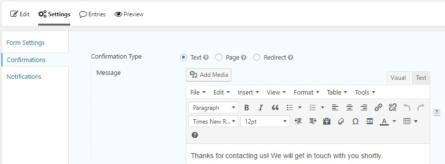 how to edit wordpress send confirmation email