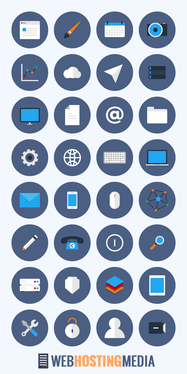 free flat business icon