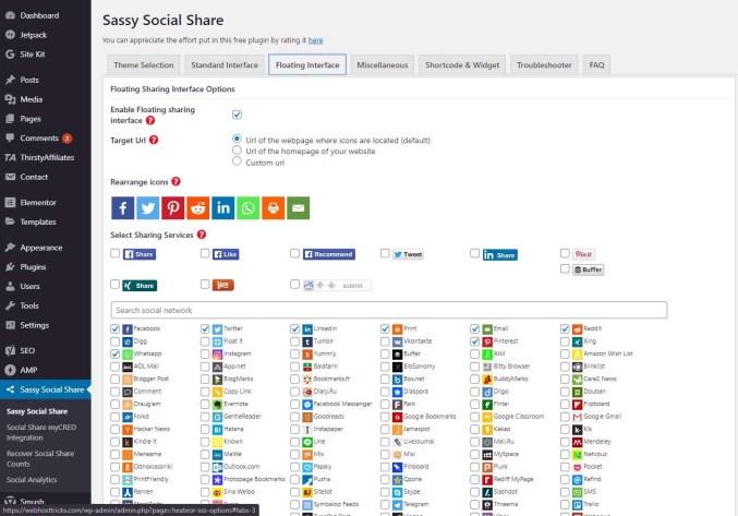Sassy Social Media Sharing Plugin