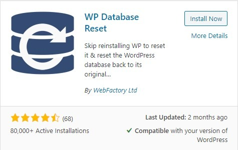 WP Database Reset