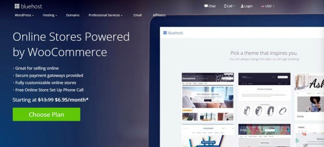 BlueHost- Web Hosting for eCommerce