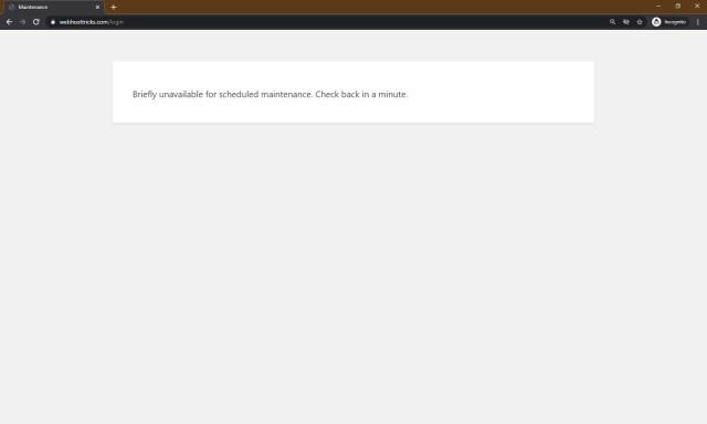 WordPress under maintenance