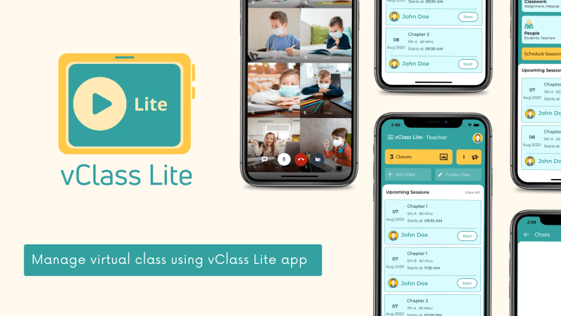 vClass Lite - Virtual Online Live Classroom Android App - 1