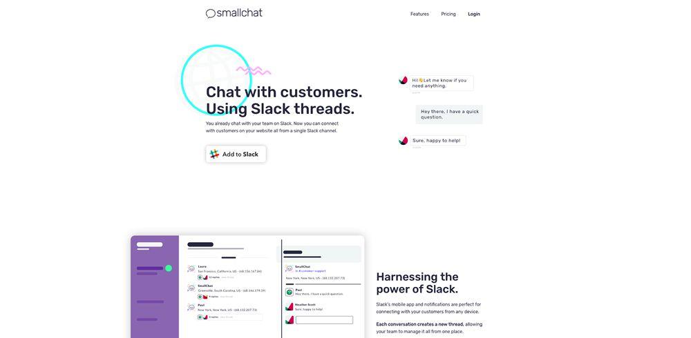 drop shadow design trend web Smallchat