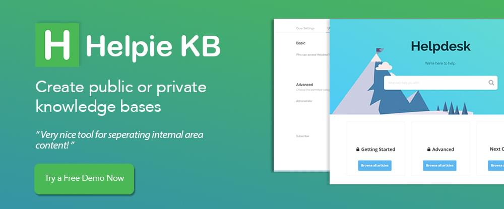 Helpie Knowledge Base Wiki