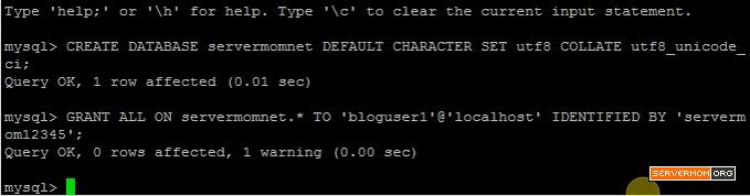Create DB User Grant Access