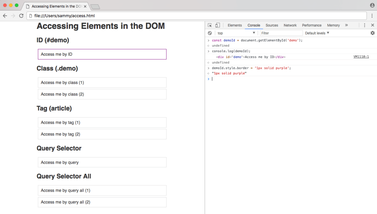 Browser rendering of ID element styling