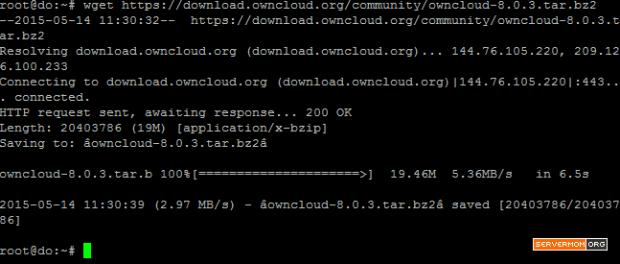 download-owncloud-package-wget