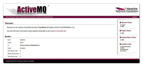 ActiveMQ Dashboard