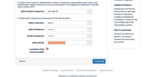 AbanteCart Configuration II