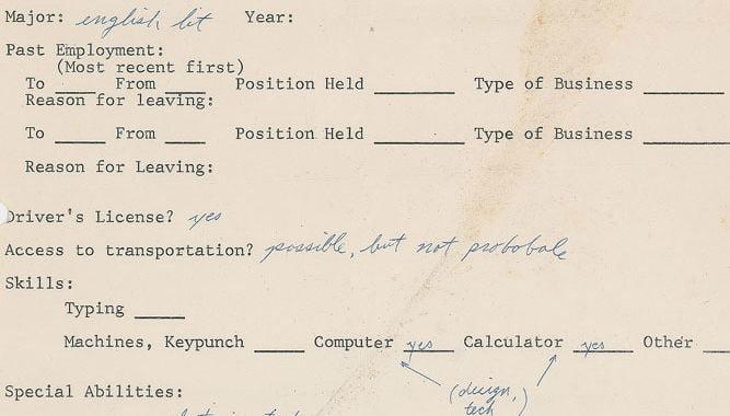 Steve Jobs' 1973 job application fetches $174,000 at auction
