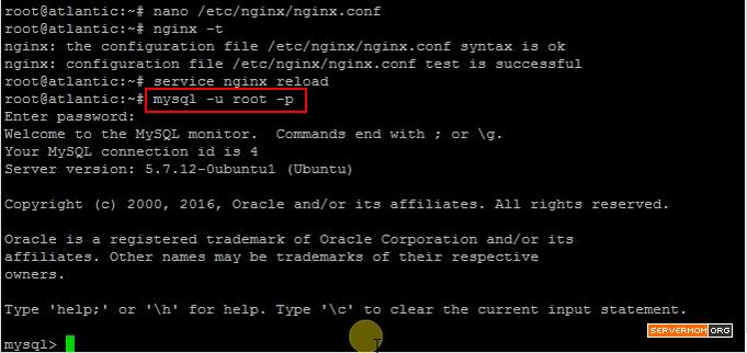 Login to MySQL