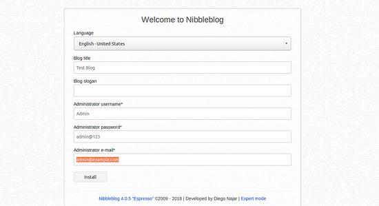 Welcome to Nibbleblog