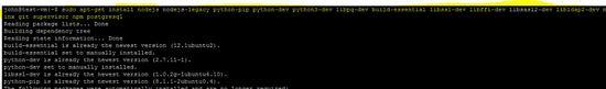 Install Build dependencies