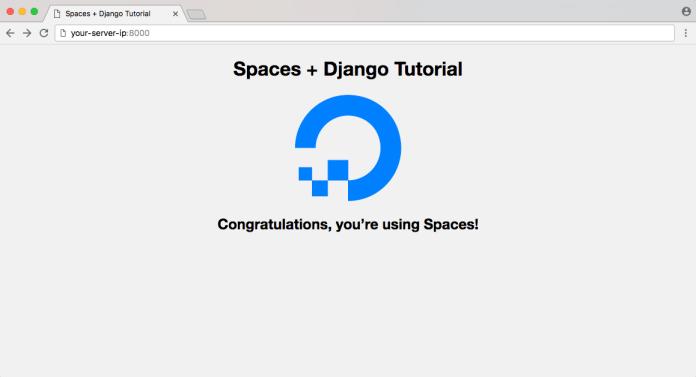 DigitalOcean Spaces Django Example App