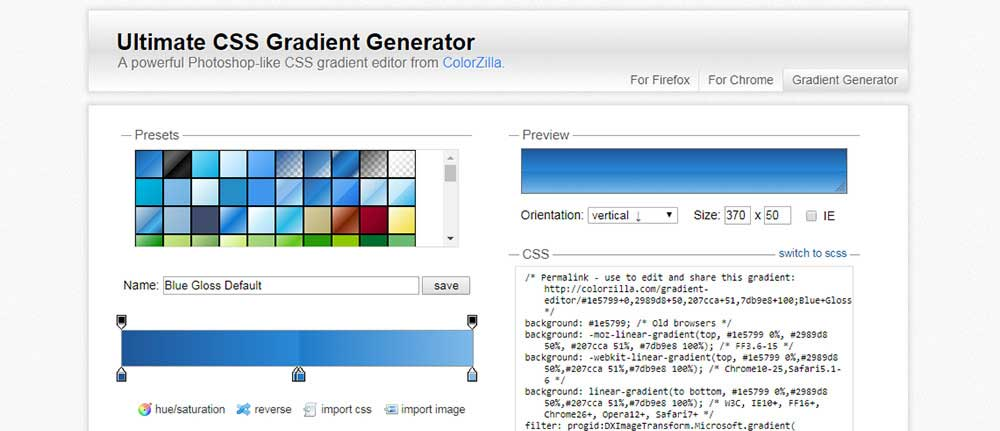 Colorzilla gradient editor