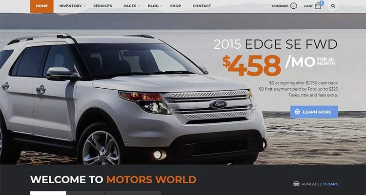 Motors WordPress Theme Is the Complete Package for Automotive Websites