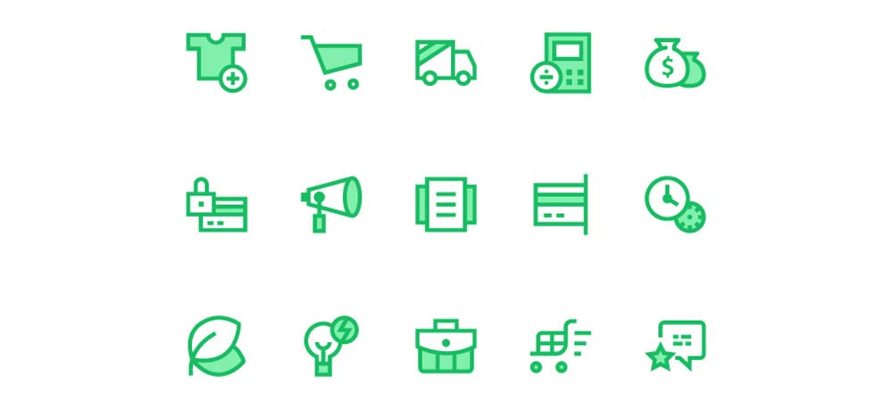 Simple Green Iconset