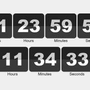 9 Free Open Source Flipping Clocks Using CSS and JavaScript