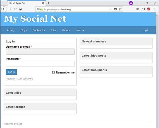 Elgg Social network