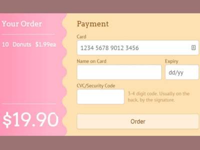 10 Free Open Source CSS3 Checkout Forms