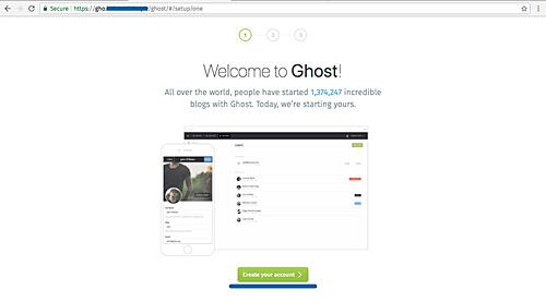 Deploying Ghost Weblog with MySQL and Traefik with Docker