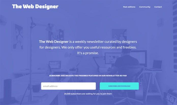 the webdesigner newsletter