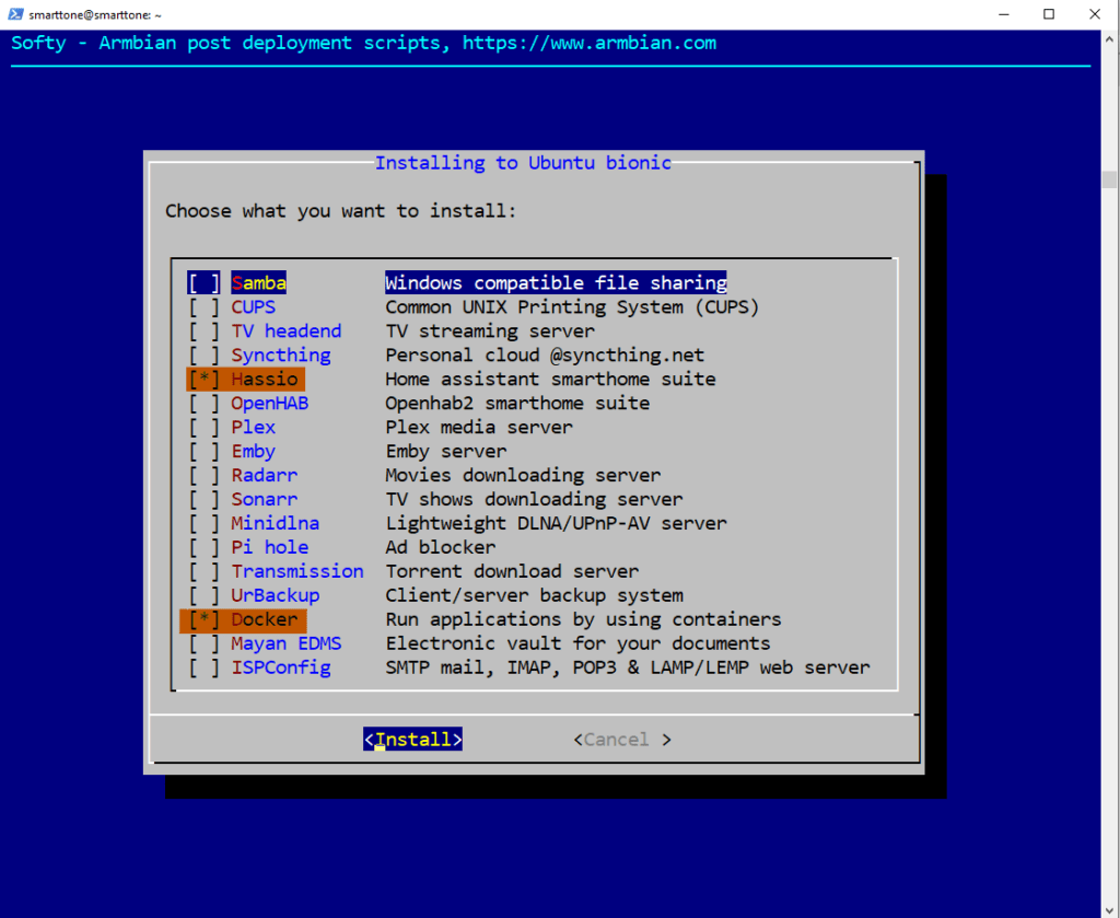 Install Home Assistant in Docker on Orange Pi Zero 18