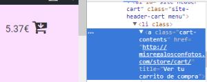 Configurar la Font Awesome en el carrito de WooCommerce