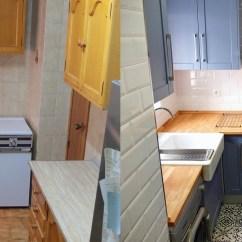 Redesigning A Kitchen Value City Sets 定制家具 看看化妆前后的厨房 当然 这一切的功劳不能只记在定制橱柜的头上 重新设计更换的墙砖 地砖 以及吊灯的形状 也是全新 妆容 的重要组成部分