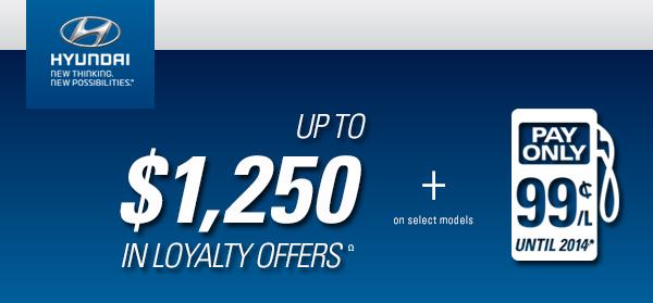 Hyundai Loyalty Bonus Email