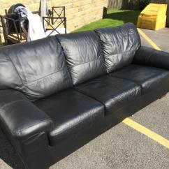 Leather Sofas Dfs Sofa And Chair Company Showroom Black 3 Seater In Bd2 Bradford For 300 Shpock