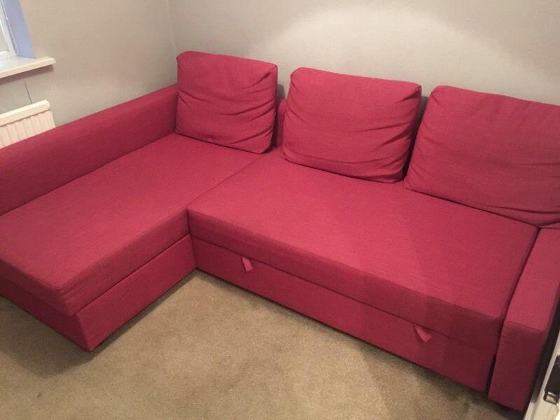 ikea pink friheten sofa bed great used cond