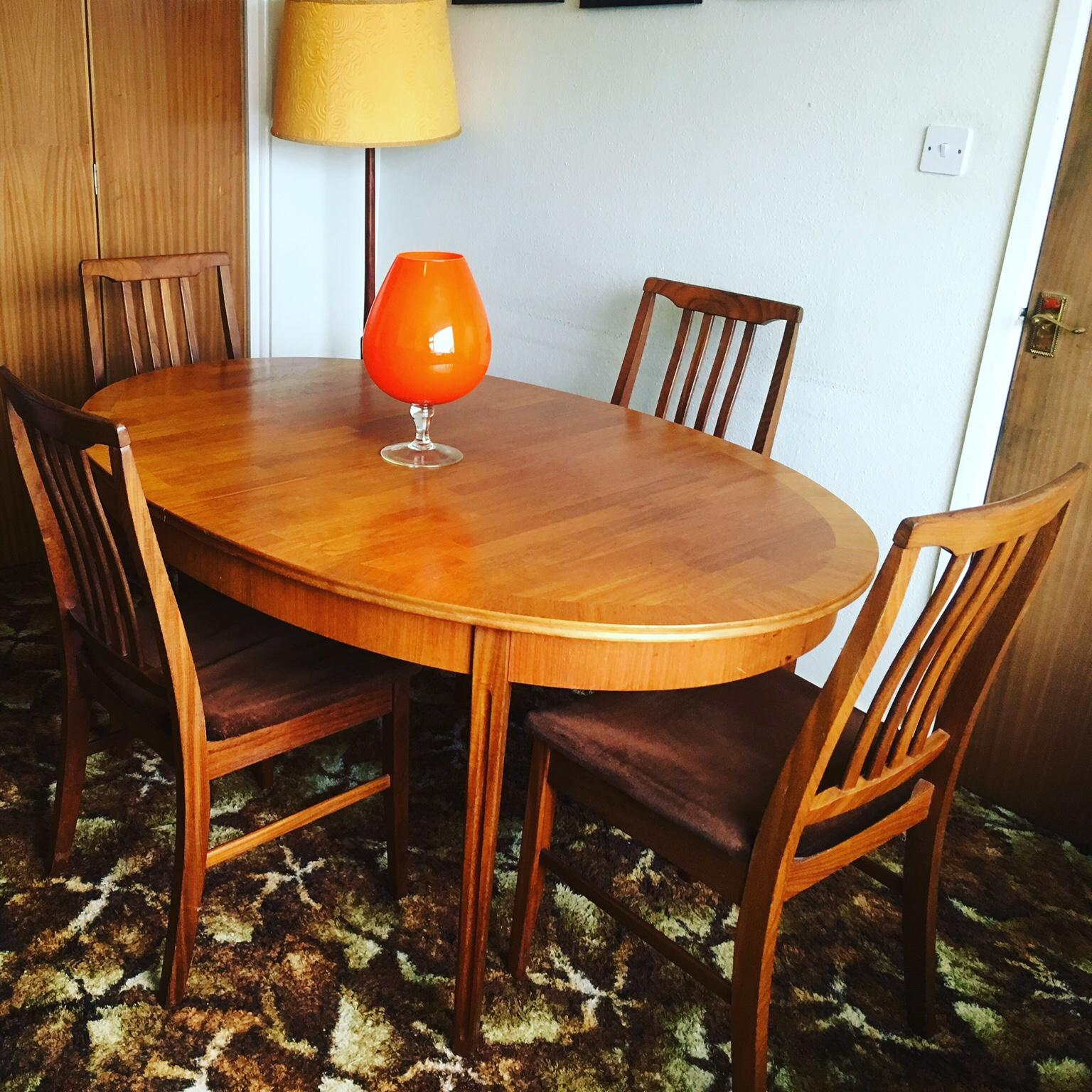 Teak Dining Room Chairs Vintage Retro Teak Dining Table Chairs