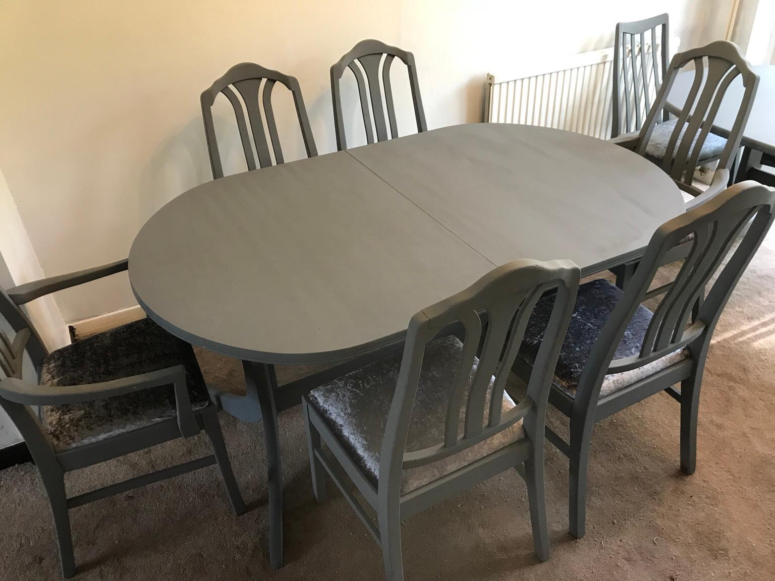 Refurbished Chairs Refurbished Nathan Dining Table 6 Chairs