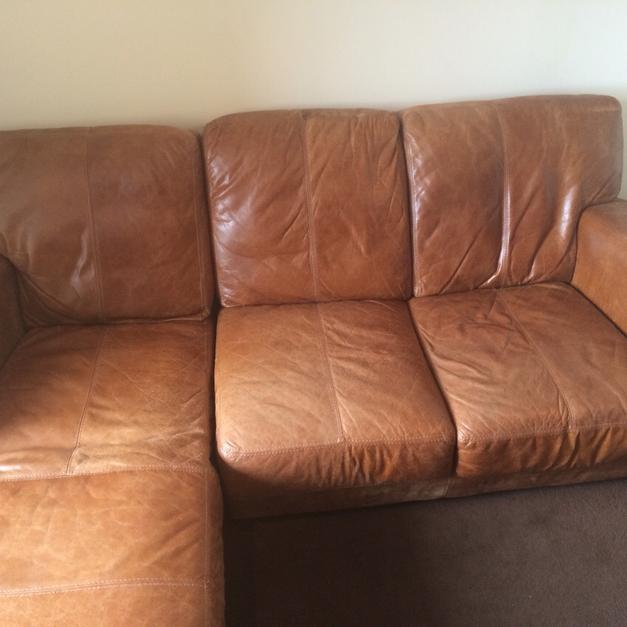 leather sofa brown dfs sweet sf l shaped in w3 london for 500 shpock description