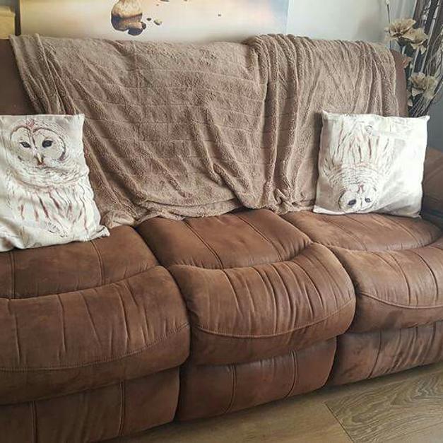 faux suede sofa cleaning instructions bad back pain harveys three seater in tf10 newport for 145 shpock description