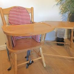 High Chair Converts To Table And Foam Toddler Wooden In Sg4 Graveley For Description