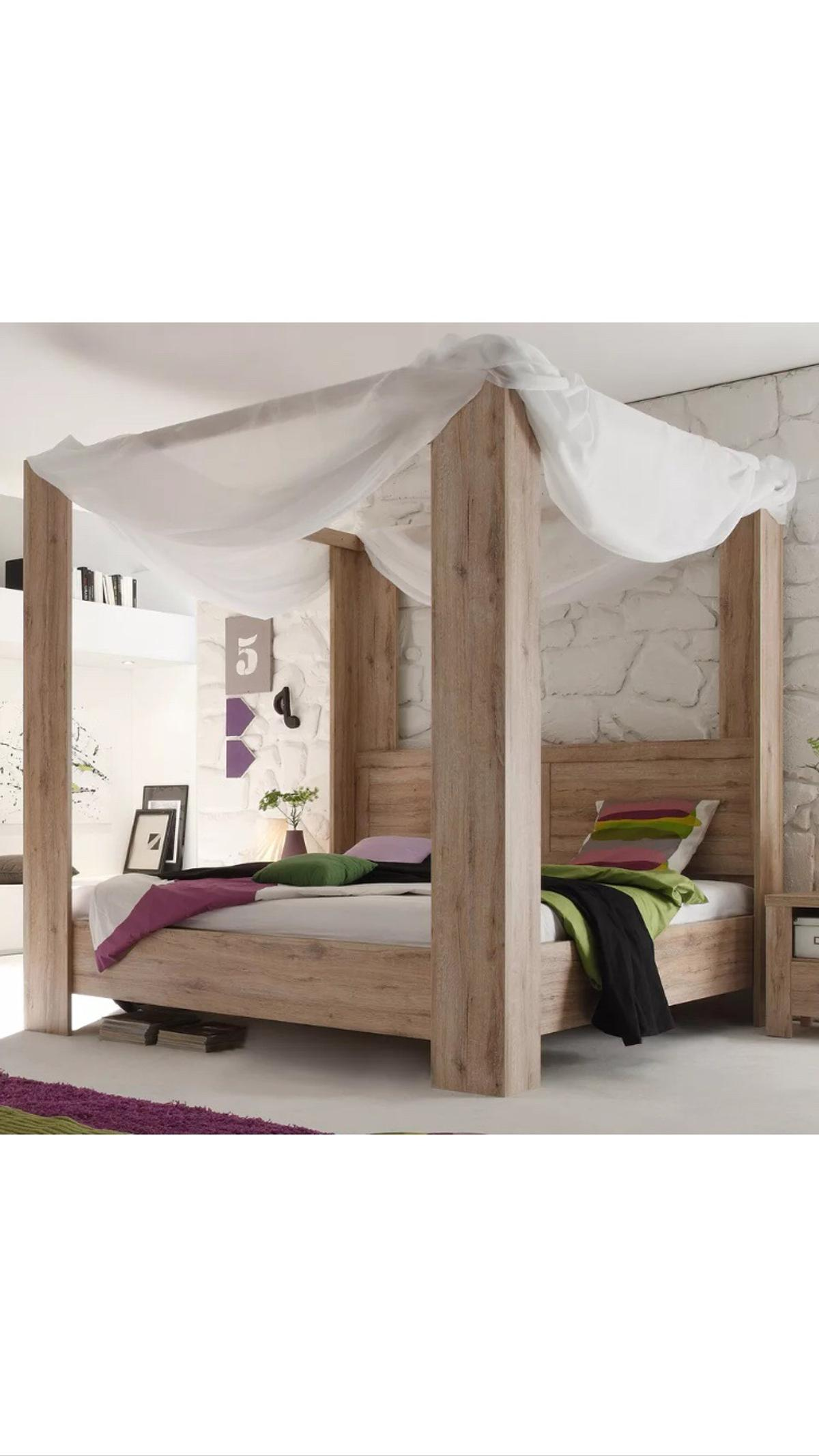 Himmelbett Holz 180x200 Himmelbett 180 X 200 Cm Eiche San Remo Hell In 50354 Hürth For €350.00 For Sale | Shpock