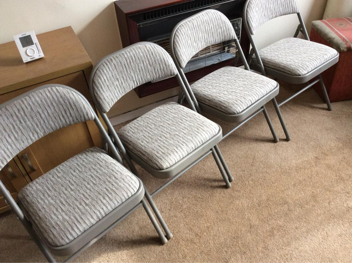Padded Folding Four Chairs Costco