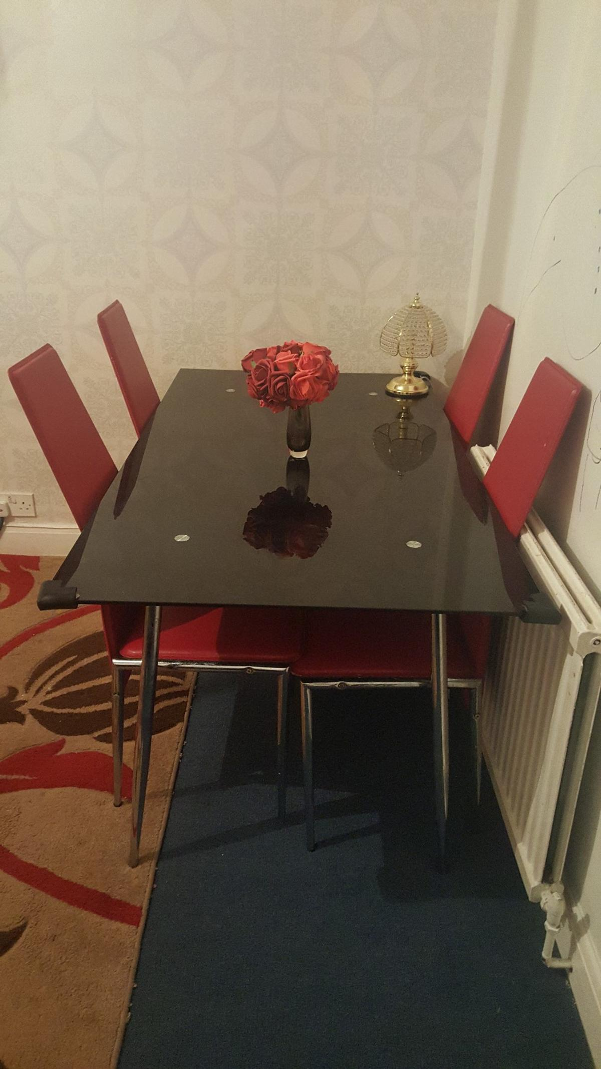 Heavy Duty Dining Room Chairs Heavy Duty Glass Dining Table 4 Red Chairs