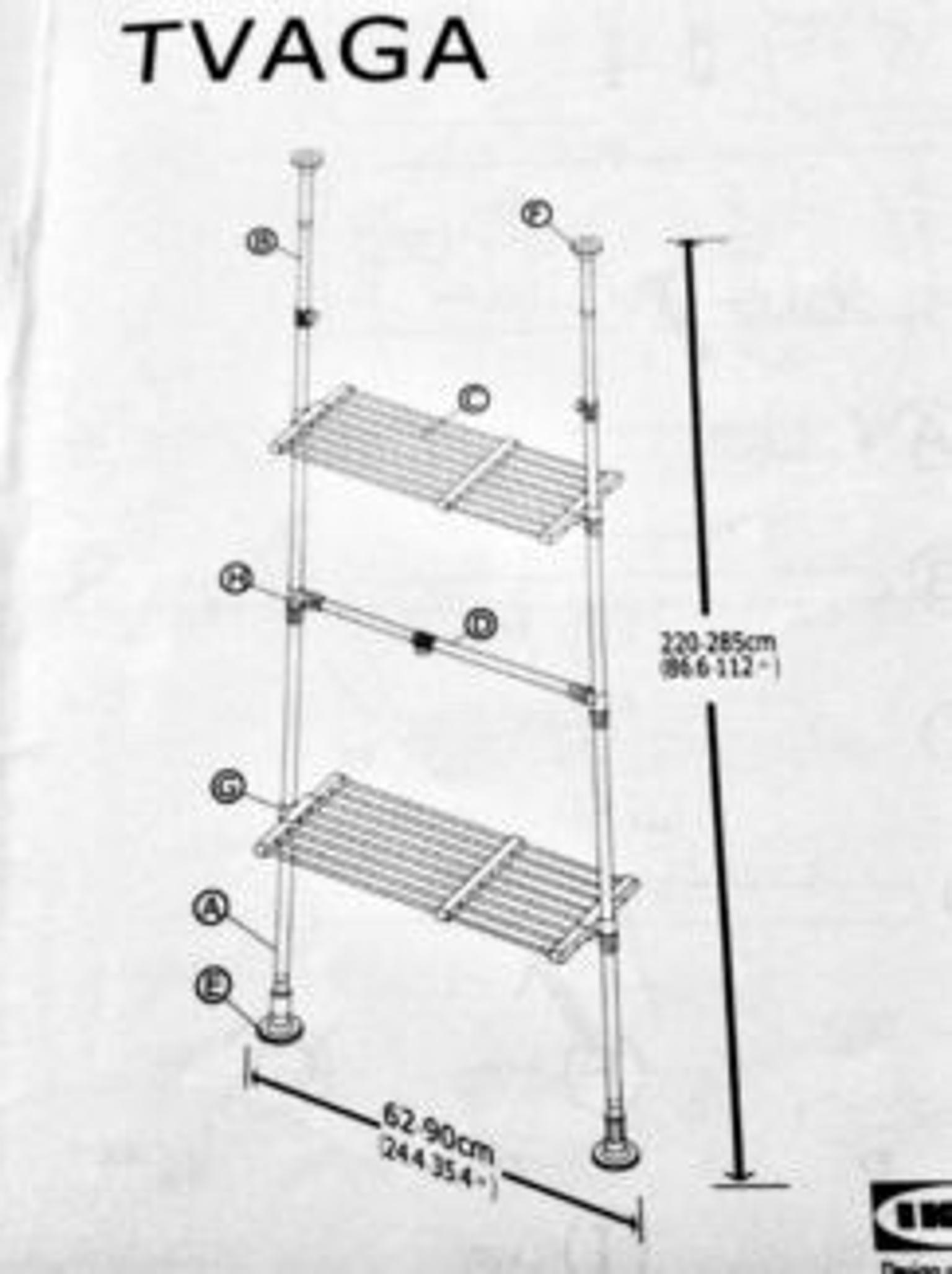 ikea tvaga extendable clothes shelf rail