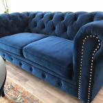 Beautiful Royal Blue Velvet Chesterfield Sofa In London Borough Of Bromley For 700 00 For Sale Shpock