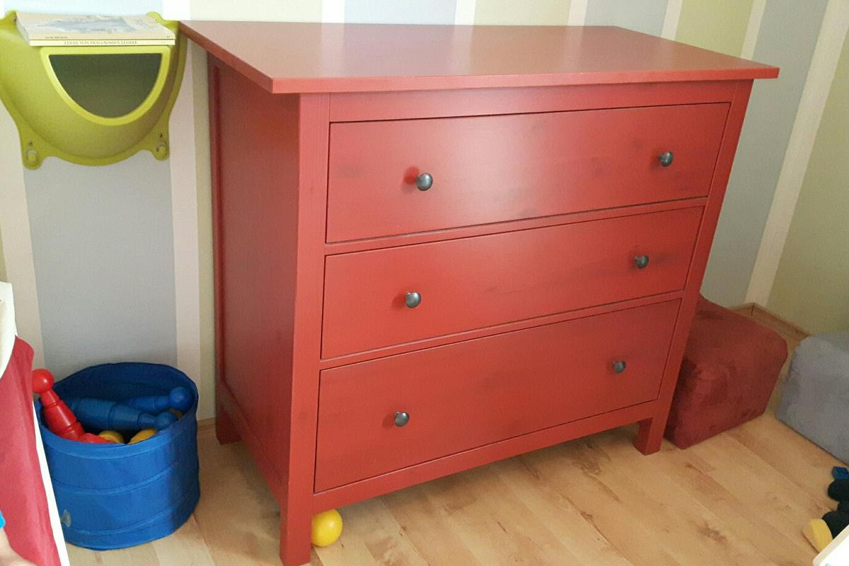 Kommode Rot Ikea Hemnes Kommode Rot Vollholz In 4892 For €60.00 For Sale | Shpock
